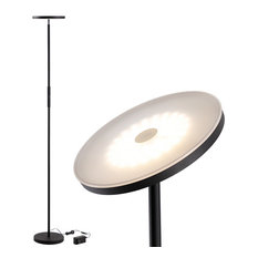 "30W Dimmable LED Torchiere Floor Lamp 69-"" Tall Standing Pole Light"