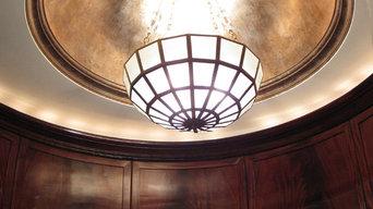 Aged Genuine Silver Leaf Dome