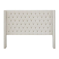 Madison Park Queen Upholstery Headboard With Cream Finish MP116-0355