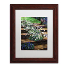 "David Lloyd Glover 'Dainty Daisies' Framed Art, Wood Frame, 11""x14"", White Matte"