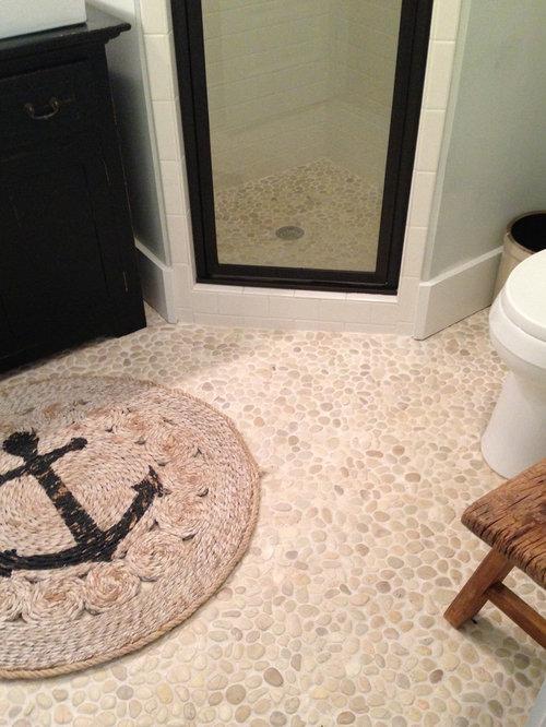 Pebble Tile Bathroom Houzz