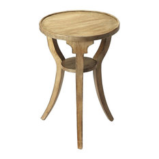 Butler Specialty Company   Butler Dalton Driftwood Round Accent Table    Side Tables And End Tables