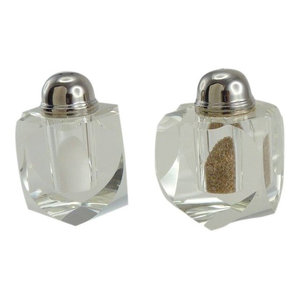 Crystal Heart Salt and Pepper Shakers
