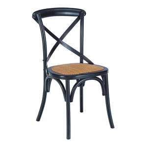 Poly and Bark Cafton Crossback Chair, Black