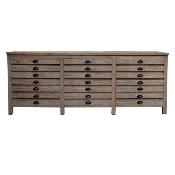 Huckleberry Reclaimed Wood Printmaker's Sideboard