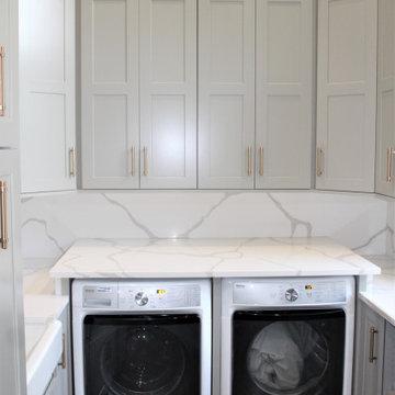Showplace EVO Laundry & Pantry in Pendleton Dorian Gray & Natural Walnut