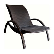 Azur Lounge Chair, Brown and Dark Brown