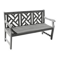 Renaissance Outdoor Hand-Scraped Hardwood Bench