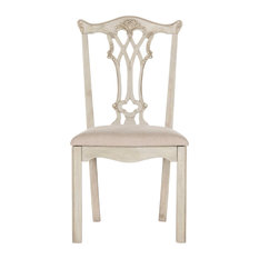 Whitfield Mahogany Chippendale Side Chairs Set Of 2 Taupe Rustic Gray