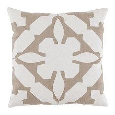 Gloria Natural Applique Pillow