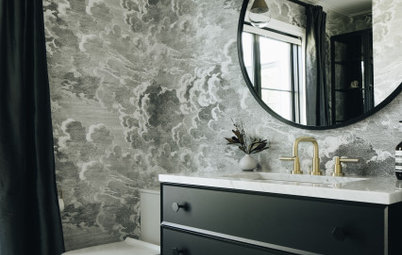 New This Week: 5 Dramatic Powder Rooms