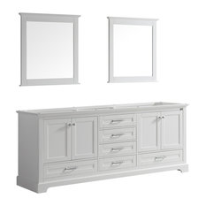 Dukes 80-inch Double Vanity With 30-inch Mirrors No Top White