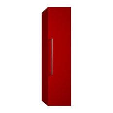 Samoa Deep Column Bathroom Cabinet, Red