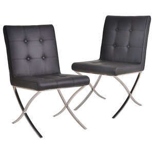 Mucia Chairs, Set of 2, Black