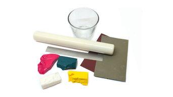 Декор подсвечника полимерной глиной