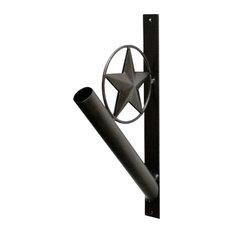 Iron Flag Pole Holder, Star Design