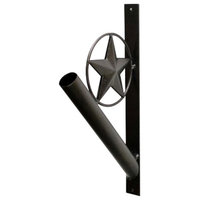 Iron Flag Pole Holder, Star Design, 13""
