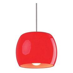 "ET2 E20851-03 Caps 8"" 1 Light Pendant, Red Glass"
