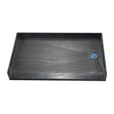 "Tile Redi 3554RBF-PVC 35""x54"" Curbless Shower Pan With Right PVC Drain"