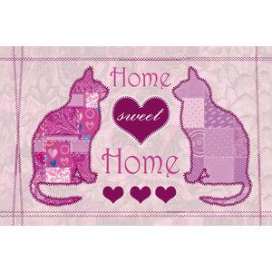 """""""Home Sweet Home"""" Cat Gallery Door Mat, Small"""