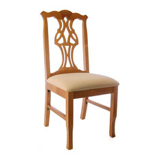 Chippendale Chairs, Honey Oak, Ivory