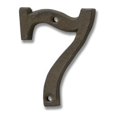 Cast Iron Number '7', Rustic Brown