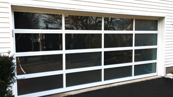 Full View Garage Door in White with Clear Glass