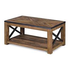 Magnussen Penderton Wood Small Rectangular Coffee Table in Sienna
