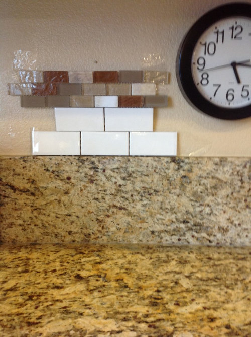 With The Granite Counter So I Was Thinking Of White Or Cream Subway Tile Just A Line My Favorite Tiles Should Forget Whole Thing And