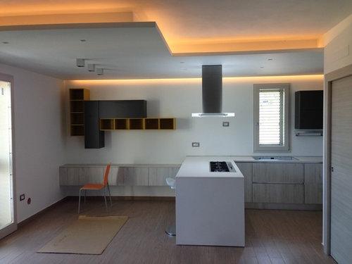 Decorazione parete cucina a vista