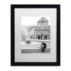 """Paris Kiss"" Framed Art by Yale Gurney, Black, White, 16""x20"""