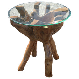 Rustic Side Tables And End Tables by Chic Teak