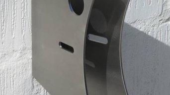 Design cykelholder i rustfrit stål