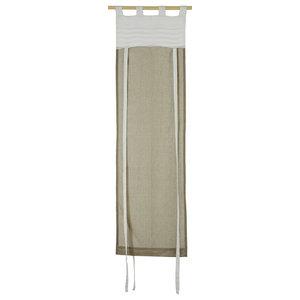 Neutral Tone Drawstring Curtain