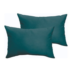 Corrigan Sunbrella Outdoor Lumbar Pillow, Set of 2, Teal, 20x13