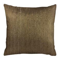 "Lanette Throw Pillow, Dark Bronze 18""x18"""