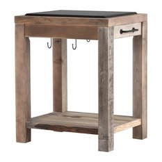 Reclaimed Wood Work Bench, Small