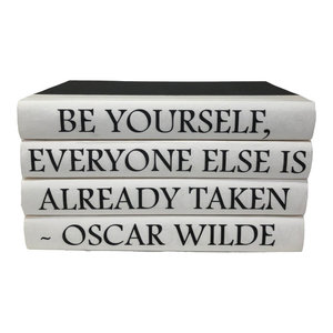 4 Piece Oscar Wilde Quote Decorative Book Set