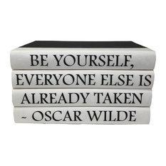 4 Piece Oscar Wilde Quote Decorative Book Set