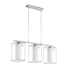 Pagazzi Lighting - Eglo Loncino1 3-Light Ceiling Light, Polished Chrome - Kitchen Island Lighting