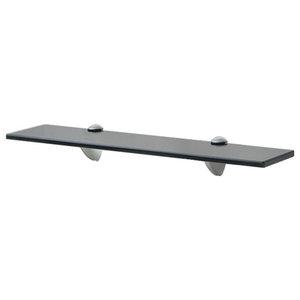VidaXL Floating Shelf, 8 mm, Black, 50x20 cm