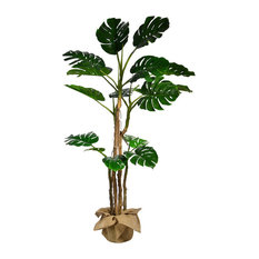 "72"" Tall Monstera Artificial Indoor/ Outdoor Faux Decor With Burlap Kit"