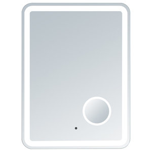 Electric LED Mirror, Rounded Edges, Magnifying Cosmetic Light, 24  X  32