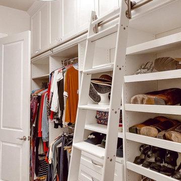 Custom Walk-in Closet With Ladder