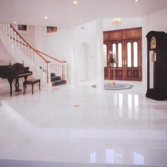 Yorba Linda Thassos White Marble Entry