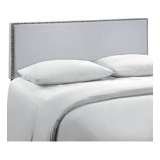Modway Region Queen Nailhead Upholstered Headboard MOD-5215-GRY