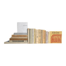 Midcentury Tan and Cream Books, Across The Globe, 20-Piece Set