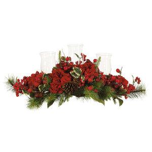 Hydrangea Holiday Candelabrum