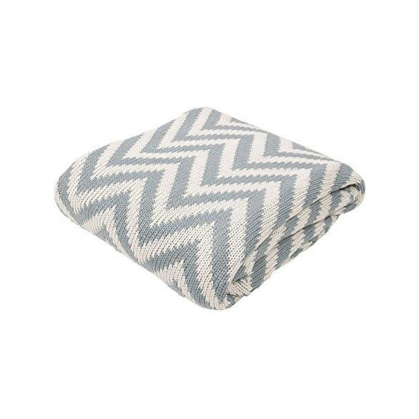 Soft Hand Chevron Pattern Cotton Cozy Throw Blanket