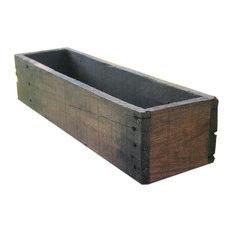"20"" Rustic Planters Box, Short Version, Aged Rustic, 5"""
